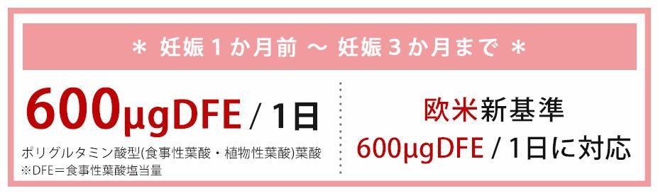 天然葉酸600μgDFE